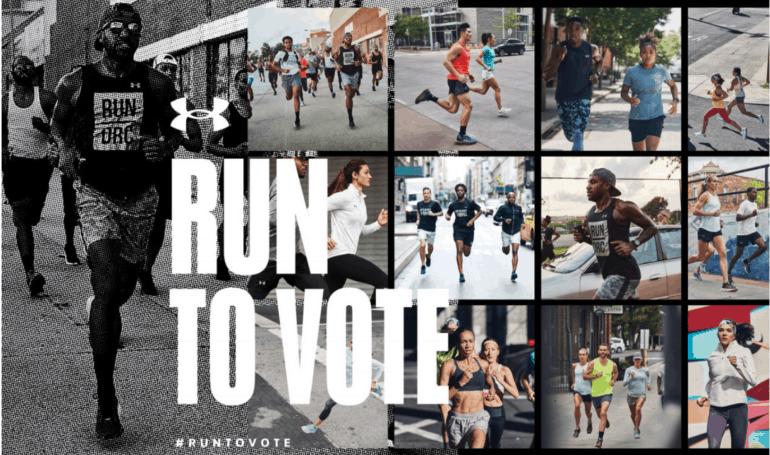 Under Armour Run to Vote ora comunica